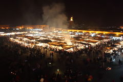 Platz EL Fna Marrakesch-Jemaa Lizenzfreies Stockfoto