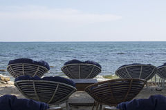 Platz für die Entspannung auf dem Strand Lizenzfreie Stockbilder