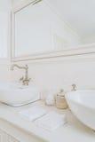 Platz für die Morgentoilette Stockfotos
