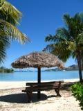 Platz für entspannen sich durch den Ozean, Fidschi Stockfotos