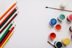 Platz für Text, Design Der Arbeitsplatz des Künstlers für das Zeichnen Stockfoto