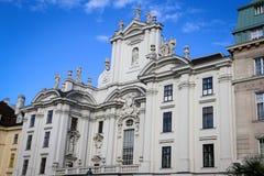 Platz morgens Hof in Wien Stockfotografie