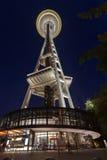 Platz-Nadel Seattle nachts Stockbild
