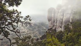 Platz nahe dem berühmten Kloster von Montserrat Lizenzfreie Stockbilder