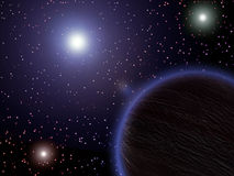 Platz, Planeten, Sterne Stockfoto