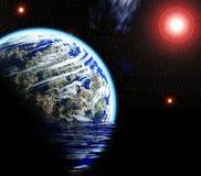 Platz und Planet Lizenzfreies Stockfoto