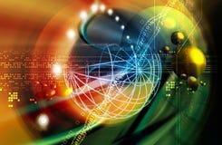 Platz und Technologie Lizenzfreies Stockfoto