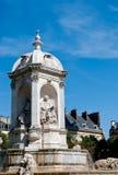 Platzieren Sie Brunnen Str.-Sulpice, Paris Stockbild