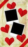 Platzieren Sie das Foto von Ihnen und von Ihrer Liebe Stockbilder