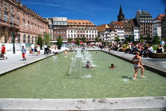 Platzieren Sie Kleber, Straßburg Stockfoto