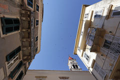 Platzieren Sie nahe Heiliges Spyridons Kirche, Kerkyra Stockfotos