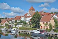 Plau am ziet, het District van het Meer Mecklenburg, Duitsland stock fotografie