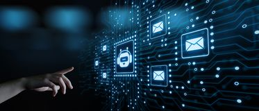 Plaudern Sie Bot Roboter-plauderndes Kommunikations-Geschäfts-Internet-Technologie-on-line-Konzept lizenzfreie stockfotografie