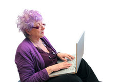 Plaudernde Großmutter Lizenzfreie Stockbilder