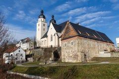 Plauen St Johannis Church arkivbilder