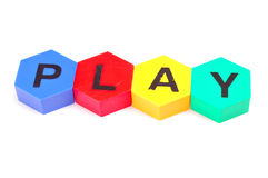 Play. Word play isolated on white background Royalty Free Stock Images