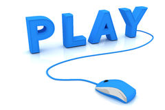 Play. This is a 3D rendered picture Stock Images