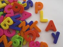 Play. Ing with letters royalty free stock photos