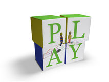 Play. Children's blocks that spell out the word PLAY Royalty Free Stock Images