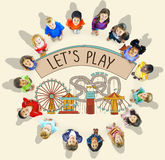Play Activity Entertainment Happiness Leisure Concept stock image