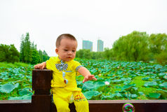 Play alone Baby(Asia, China, Chinese) Stock Images