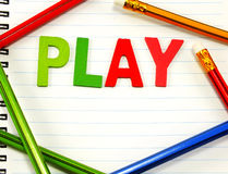 Play alphabet from colorful wooden Royalty Free Stock Photo