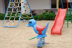 Play Area. Children play area on a bright summer day Stock Image