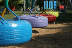 Play area. Children's play area with wheels royalty free stock photos
