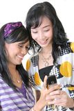 Play around on mobile device stock photography
