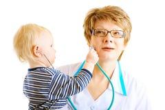 Play as doctor Stock Photos