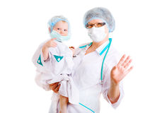 Play as doctor Royalty Free Stock Photos