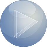 Play audio icon. Illustration, triangle with line Royalty Free Stock Image