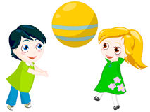 Play ball. Children play with ball. clipping path included Royalty Free Stock Images