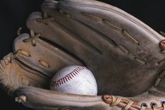Play Ball. Baseball Mitt and Baseball Glove Royalty Free Stock Photography