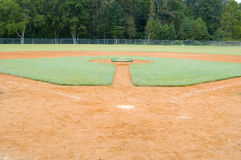 Play Ball. Baseball field Stock Images