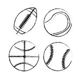 Play Ball. Over white background  illustration Stock Photo
