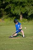 Play Ball. Young boy playing little league Stock Photos