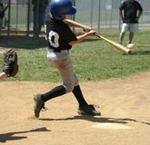 Play Ball - Great Hit! Royalty Free Stock Photo