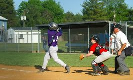 Play Ball - What a Hit! Royalty Free Stock Photography