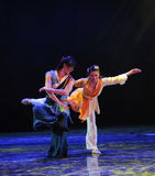 Play Ballet-The dance drama The legend of the Condor Heroes. In December 2, 2014, a large Chinese dance drama the legend of the Condor Heroes for the first time Royalty Free Stock Photos