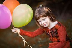 Play with baloons Stock Photo
