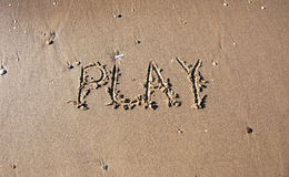 Play on the beach Stock Image