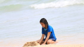 Play on the beach stock footage