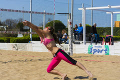Play beach volley roma Stock Photos