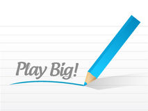 Play big message illustration design Royalty Free Stock Images