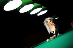 Play billiard Stock Images