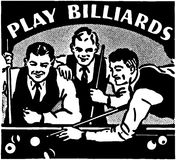 Play Billiards Royalty Free Stock Images