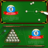 Play Billiards Realistic Compositions Stock Images