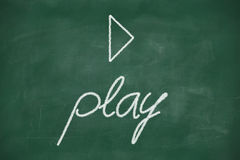 Play on blackboard Royalty Free Stock Photo
