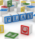 Play block Royalty Free Stock Photography
